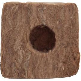 Taco de 7,5x7,5x6,5cm GREEN 1 agujero 38x35mm (224)