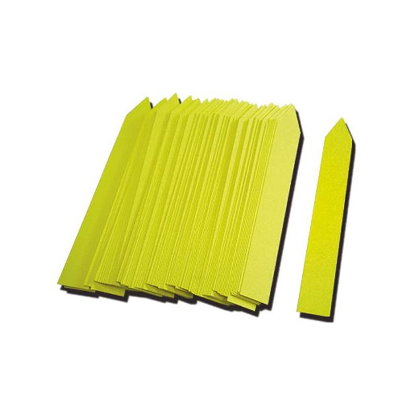 Etiqueta PVC 16x100mm amarillo (500uds)