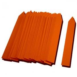 Etiqueta PVC 16x100mm naranja (500uds)