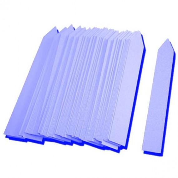 Etiqueta PVC 16x100mm azul (500uds)