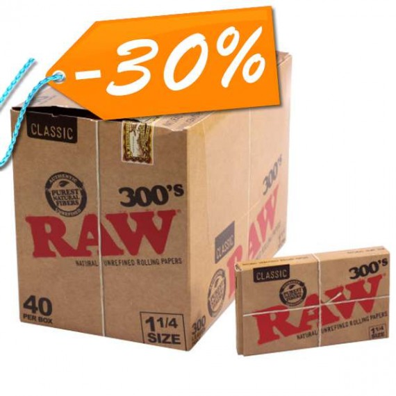Promo - Raw Classic 1 1/4 (300 papeles)