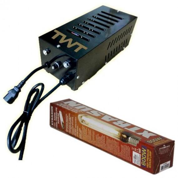 Kit iluminacion Xtrasun 600w DUAL (Balastro+Bombilla) (x)