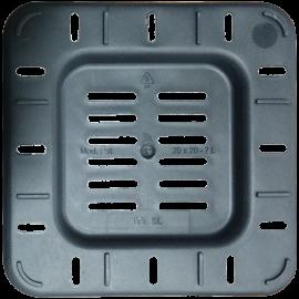 Maceta cuadrada 13x13x14 Ecomagic 1,65L Negra (55ud)