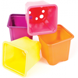 Maceta cuadrada 7x7x6,5 Colores Termof  0,21L (115ud) 4600cj