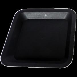 Plato cuadrado negro maceta madre 33cm
